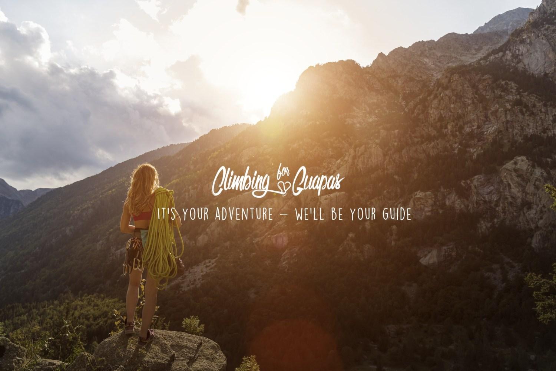 Portada de la web Climbing for Guapas